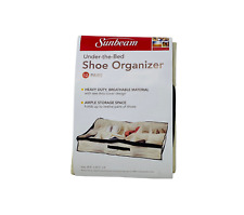 Under-the-Bed Shoe Organizer 12 pairs storage clear top for easy viewing