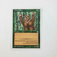 Forest Bear x1 LP Portal Three Kingdoms MTG Magic the Gathering 1999