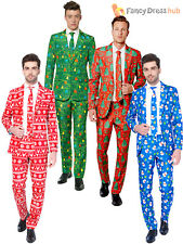 Mens Christmas Tree Suitmeister Suit Xmas Party Festive Patterned Fancy Dress