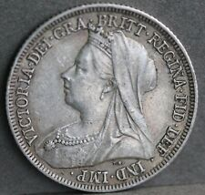 Victoria. Sterling Silver Shilling Dated 1900. aEF