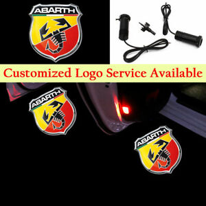 2x Color Scorpion for Abarth Car Door LED LOGO Lights Welcome Laser Projector