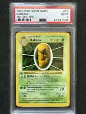 PSA 9 Mint - KAKUNA - Pokemon TCG: 1999 Shadowless Base Set 1st Edition #33