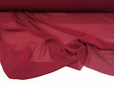 10 METRI Plain Deep WINE RED Crepe Vestito tessuto.