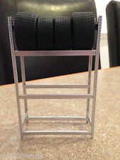 1/18 SCALE TSM SNAP ON TYRE RACK & FOUR TYRES MODIFIED GARAGE WORKSHOP DIORAMA