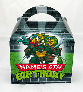 Teenage Mutant Ninja Turtles Children's Personalised Party Boxes