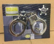 Kids Toy Metal Diecast  Handcuffs Hand Cuffs Police Fancy Dress