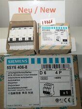 Siemens 5sy6406-8 INTERRUTTORE MAGNETOTERMICO 5SY64 MCB CIRCUITO D 6 4P
