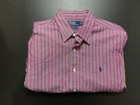 Polo Ralph Lauren Mens Shirt Size 17 / XL Button Up Long Sleeve Andrew Fit