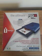 More details for iomega external usb zip 100 drive plus zip disk - boxed