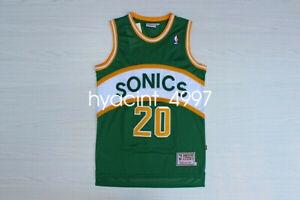 Gary Payton #20 Seattle SuperSonics Men's Green Swingman Basketball Jersey