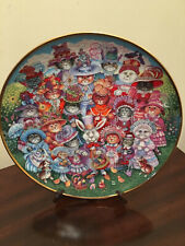 "Franklin Mint Heirloom Decorative Cat Plate-Bill Bell. ""Easter Purrade"""