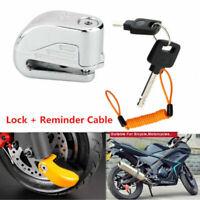 1x 6mm Anti theft ORANGE Motorcycle Motorbike Bike Disc DISK Lock ALARM & 2 KEYS