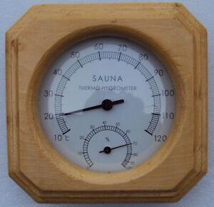 Sauna  Thermohygrometer 1 dial