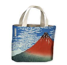 Hokusai Mount Fuji in Clear Weather Red Tote Shopping Bag For Life - Japan