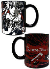 Future Diary Yuno Black Coffee Mug Cup Anime Manga NEW
