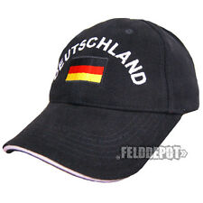 Germania Cap Black/Light Grey con stick WM EM