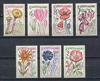 37146) Czechoslovakia 1965 MNH Medicinal Plants 7v
