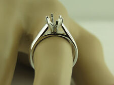 1CT Marquise Solitaire ring setting 14K White Gold Mounting.
