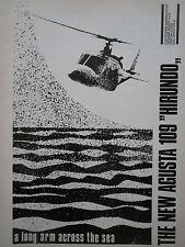 6/1972 PUB AGUSTA A109 HIRUNDO HELICOPTER HUBSCHRAUBER HELICOPTERE ORIGINAL AD