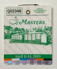 2019 Masters Tournament Augusta National Golf Club Badge Ticket Tiger Woods