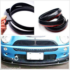 Car Front Bumper Lip Splitter Spoiler Skirt Adhesive Carbon Fiber Strip Protect
