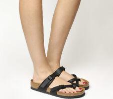 Womens Birkenstock Black Leather Slip On Sandals Size UK 7* Ex Display