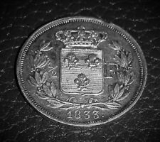 1/2 FRANC 1833 ARGENT : HENRI V avec LIVRE ORIGINAL DEDIE COMTE DE CHAMBORD