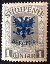 Albania 1920 1 Qintar Grey Stamp Mint Hinged