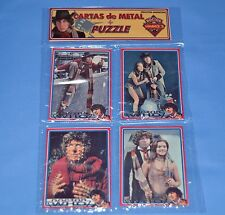 DR. WHO DOCTOR WHO TOM BAKER  SET 4 METAL CARD w/PUZZLE ARGENTINA COLLECTIBLE