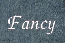 Custom Personalization Embroidery - Fancy Letters