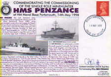HMS PENZANCE NAVY SIGNED 1998 FIRST COMMISSIONING OF SINGLE ROLE MINEHUNTER SRMH