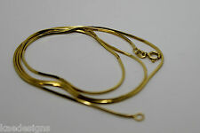 18CT YELLOW GOLD SNAKE CHAIN NECKLACE 50cm 4.21grams *FREE EXPRESS POST IN OZ