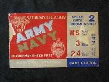 Vintage 1939 Army vs Navy Football Ticket Stub Municipal Stadium