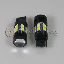 2 x Bombillas 12 LED SMD 5050 + 5W Cree T20 W21W Blanco Coche Freno, DRL Xenon