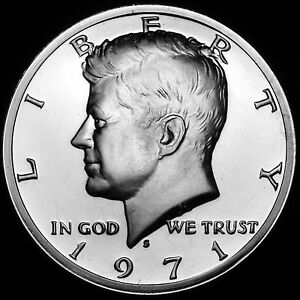 1971 S  Kennedy Half Dollar Mint Proof from Original U.S. Proof Set