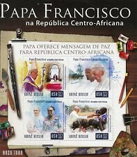 Guinea-Bissau 2015 MNH Pope Francis in Central African Rep 4v M/S Popes Stamps