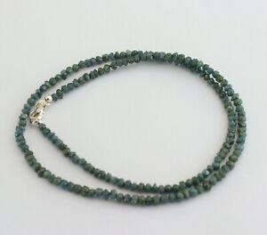 Blue Raw Diamond Necklace Precious Stone Sparkling Nuggets Noble 42 CT /46cm