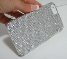 Clear White Made with Swarovski Crystals Shiny Sparkle Glitter Bling Case Note 8