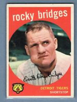 1959 Topps #318 Rocky Bridges VG-EX    Set Break A