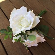 White Roses 6 Heads Flower Wedding Bouquet Artificial Silk Flower