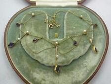 Amethyst Necklace/Choker Vintage Fine Jewellery