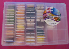 Organizer Box with 60+ Various Colors Embroidery Floss Thread Numbered Cards