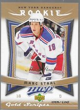 07/08 MVP Gold Script Rookie Marc Staal /100 364 Rangers