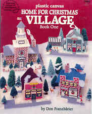 Home For Christmas Village Books 1 & 2   ~  plastic canvas books