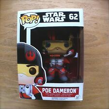 Star Wars POE DAMERON Pop! FUNKO Bobble Vinyl Figure #62 The Force Awakens Pilot