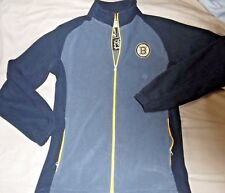 """BOSTON BRUINS EMBROIDERED """"KNIGHTS APPAREL"""" GRAY FLEECE JACKET MENS SMALL NEW$90"""