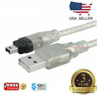 6FT 1.8M USB To Firewire IEEE 1394 4 Pin iLink Adapter Data Cable Cord PC Mac US