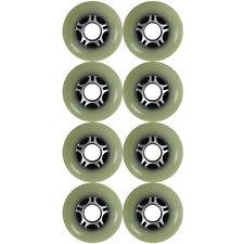 Inline Outdoor Wheels White/Silver 5 Spoke 76mm 82a Set of 8