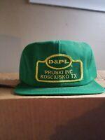 D&PL Pruski Vintage Patch Trucker Hat CapK Products Green Unworn Snapback