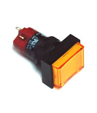 1pc DECA Pushbutton Switch D16LMT1-1ab SPST Momentary Bulb Lamp= ACDC 24 or 12V